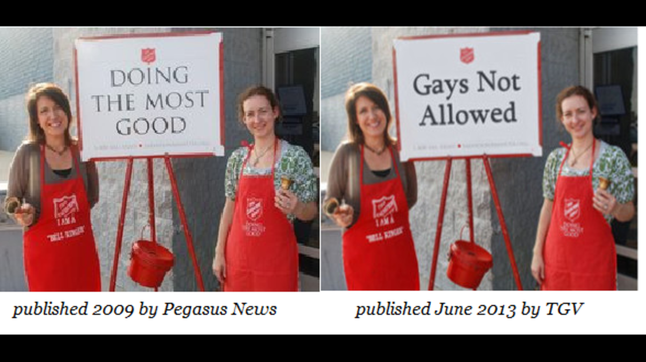 Salvation army homosexuality australia