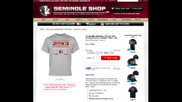 Seminoles Wrong Score Shirts