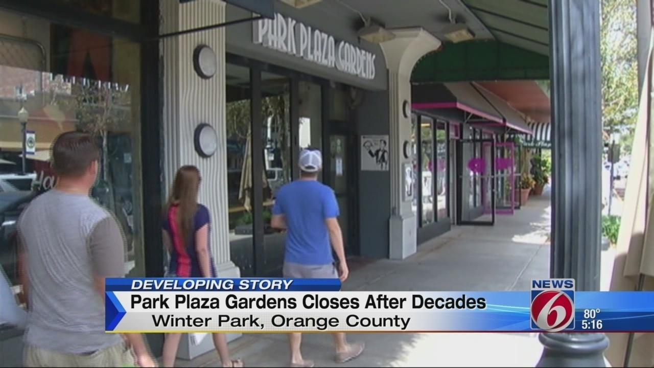 park plaza gardens in winter park closes it u0027s doors