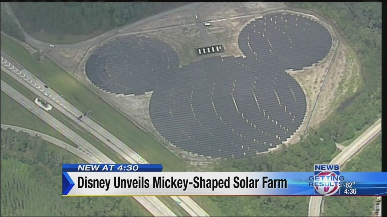 Disney Unveils Mickey Mouse Shaped Solar Facility