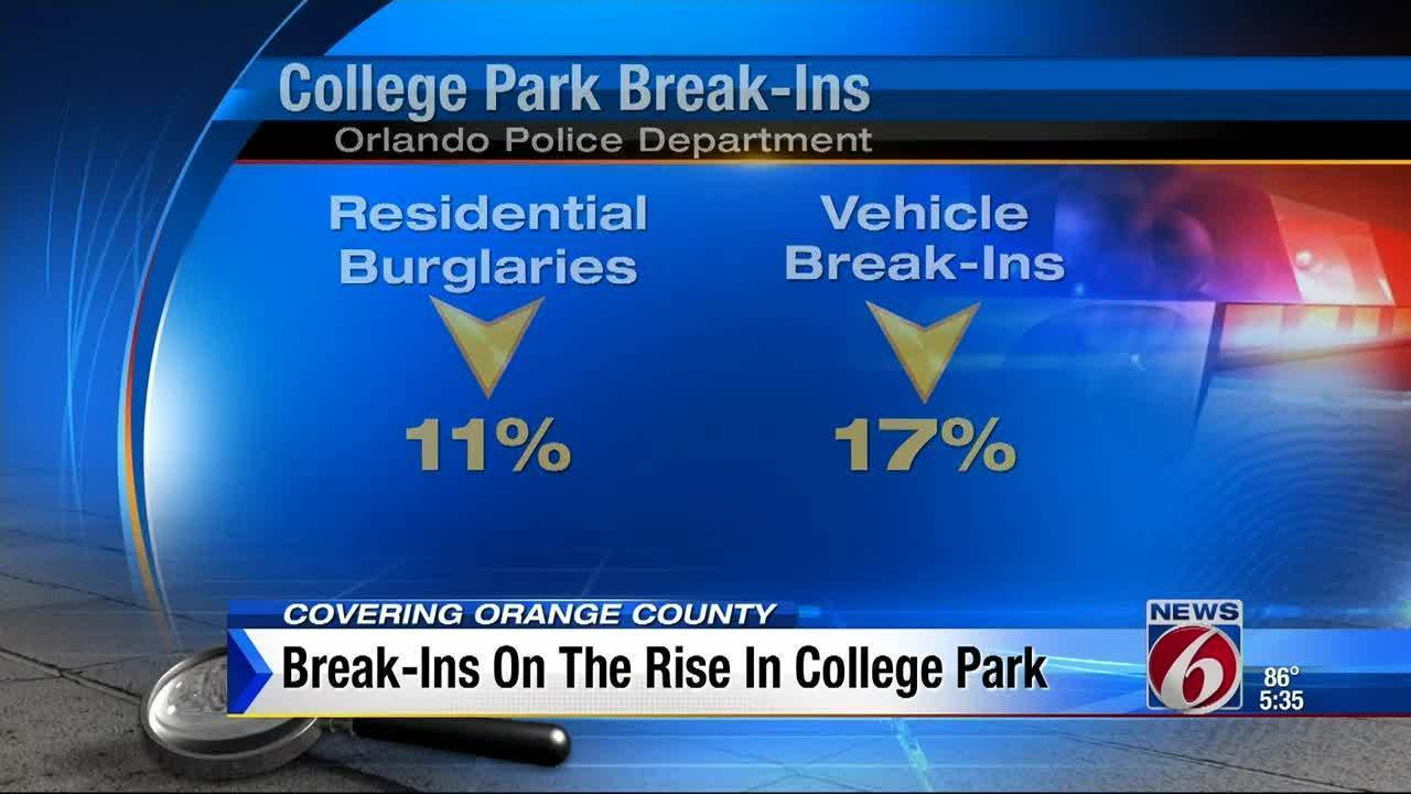 Break Ins On Rise In College Park