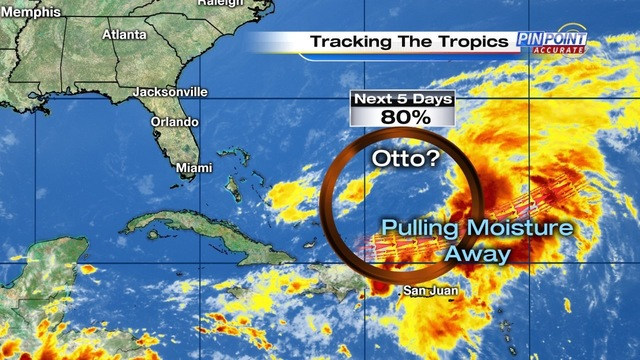 Tropical wave becoming Otto perhaps