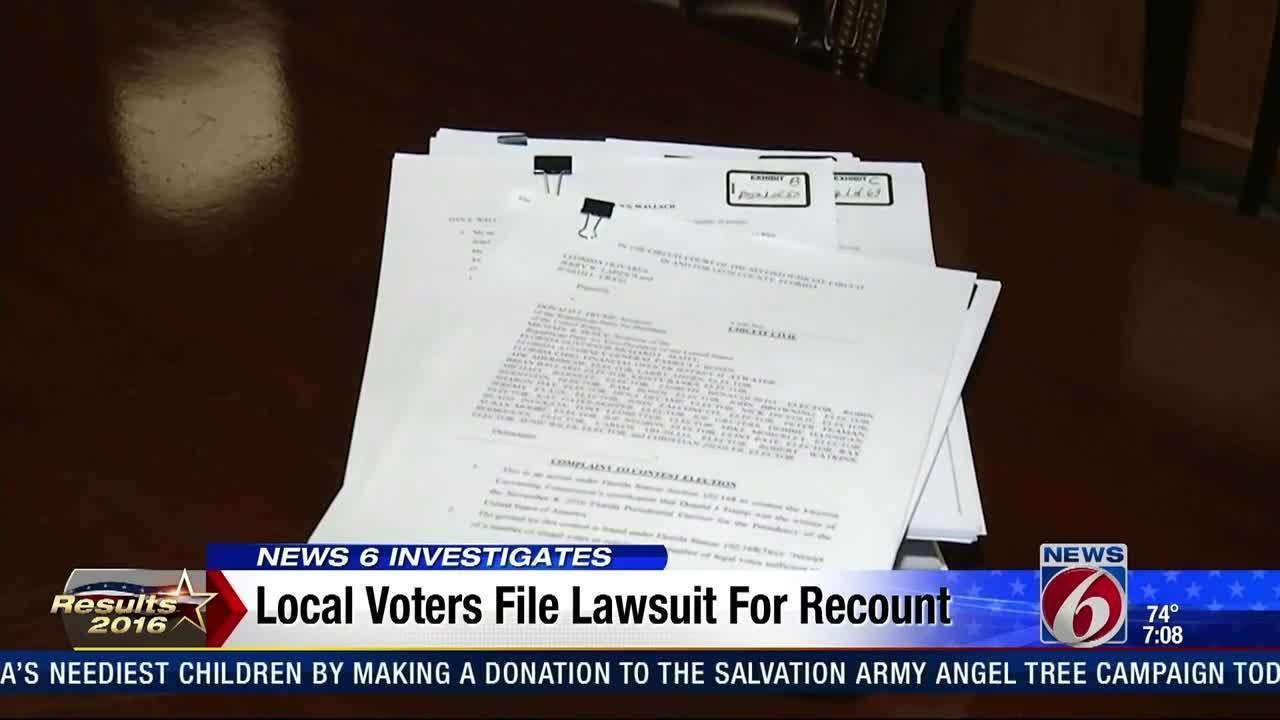 Lawsuit claims Clinton won Florida, not Trump