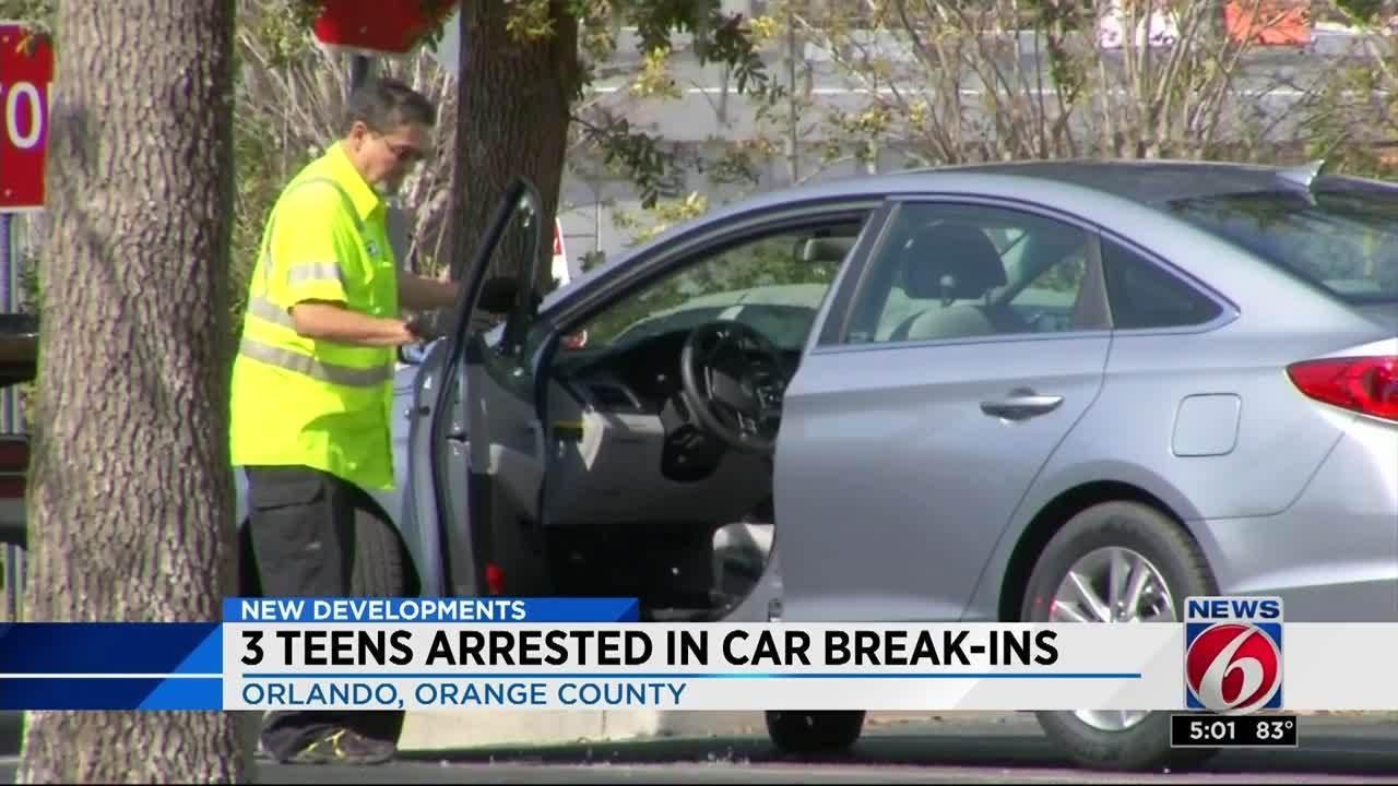 Teens Arrested In Rash Of Orlando Car Burglaries