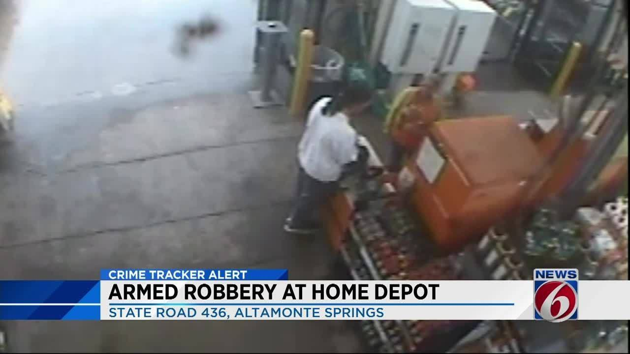 Police Robber Grabs Cash From Register At Home Depot In