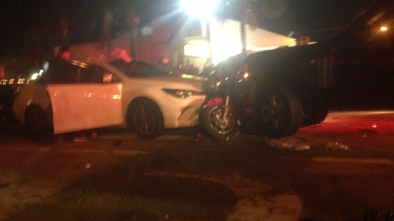 police  daytona beach crash involving motorcycles  cars