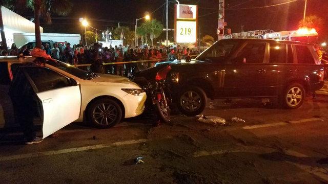 Daytona Beach motorcycle, car crash Main Street 2