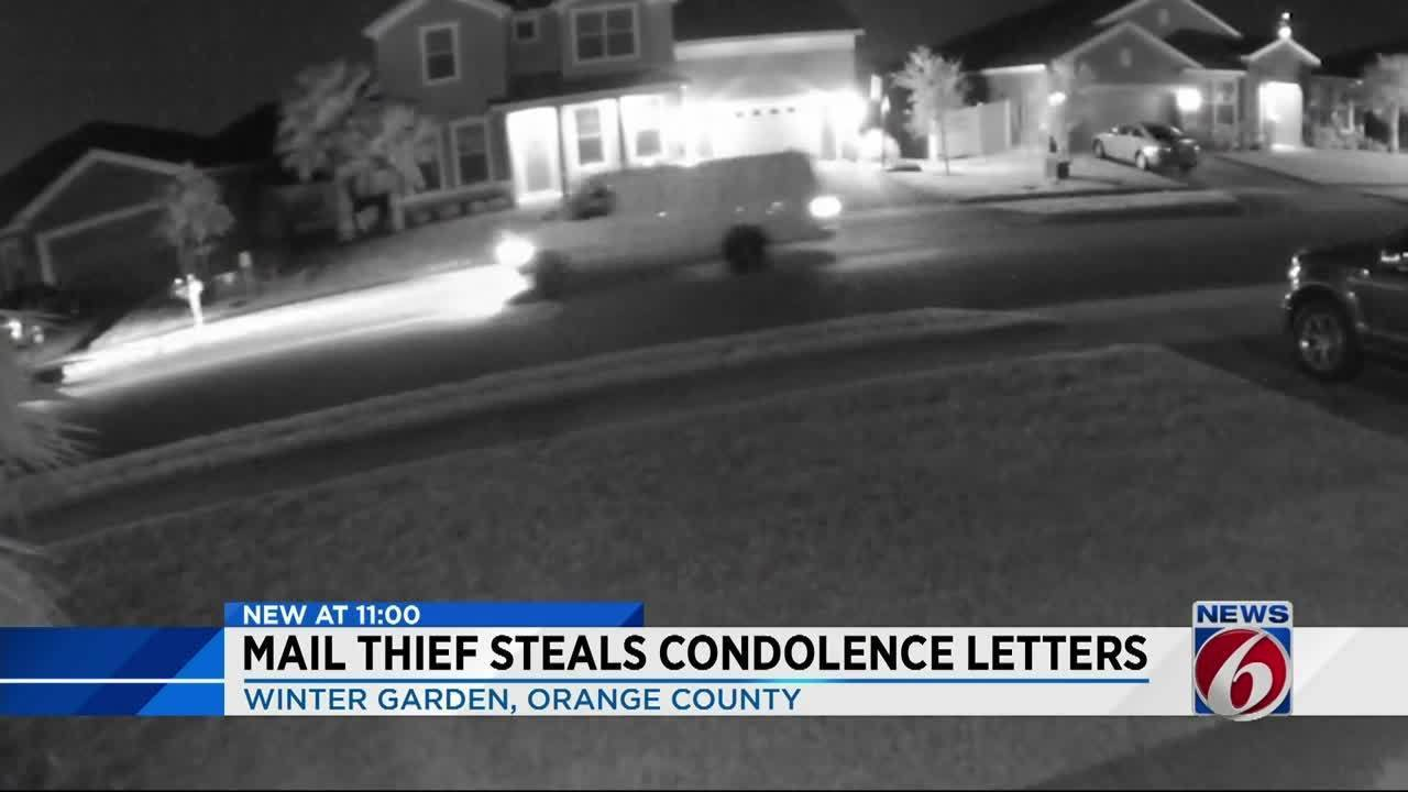 mail thief in winter garden steals condolence letters