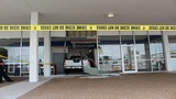 Truck crashes into Titusville post office