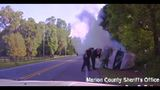 Marion deputies save suspect from fiery crash after chase