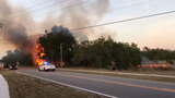 Crews battle brush fire in Deltona
