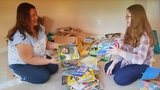 Student donates books to kids in need