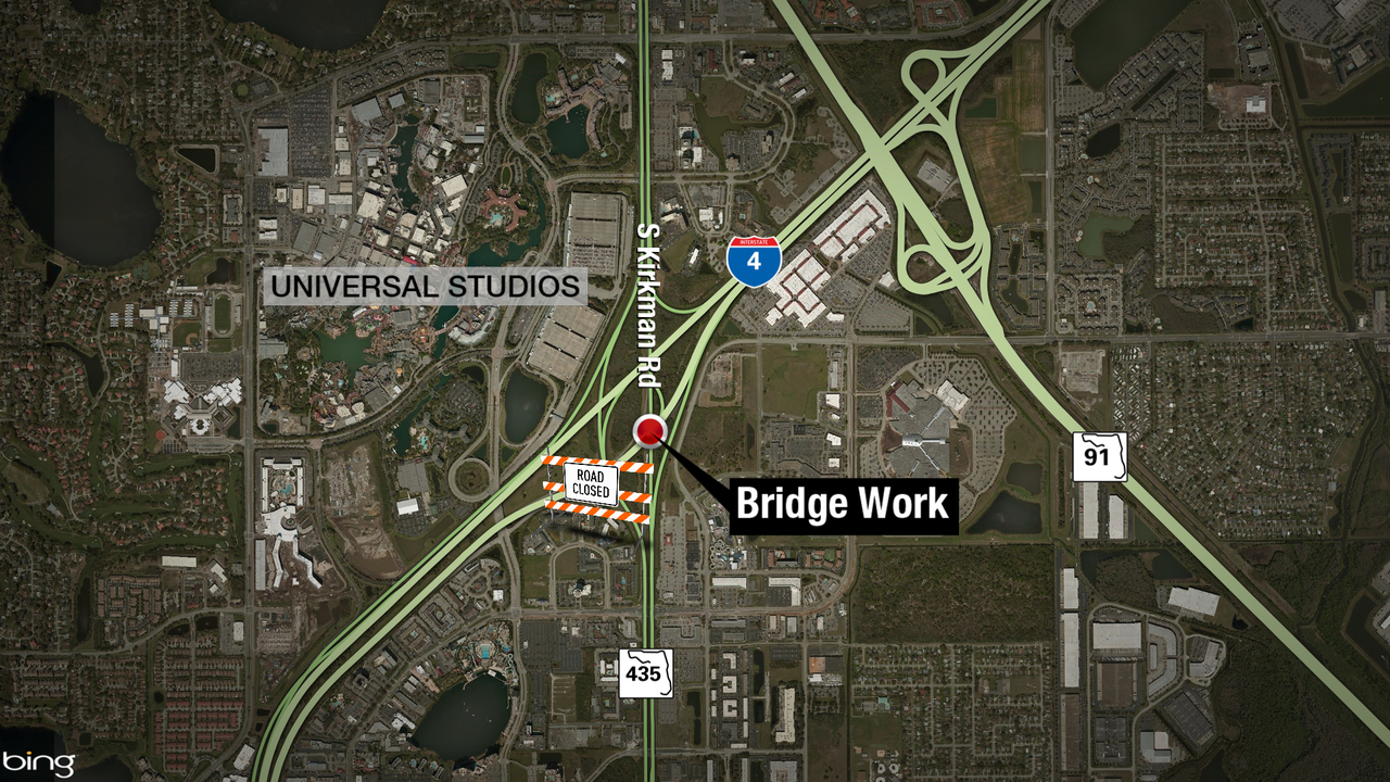 Northbound Kirkman Road I 4 Exit Ramp To Close For