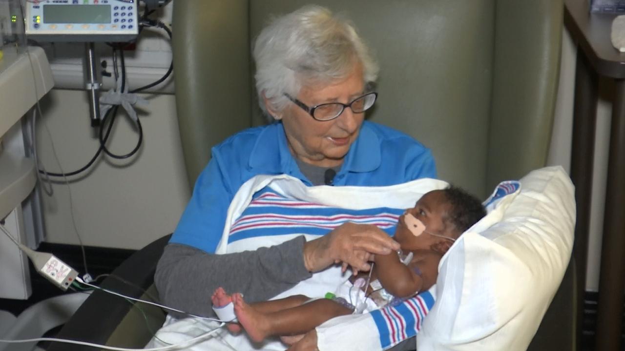 Volunteer Cuddles Nicu Babies At Winnie Palmer Hospital