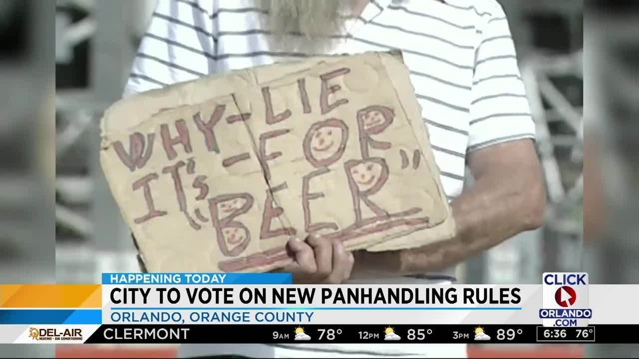 City of Orlando to vote on panhandling rule changes