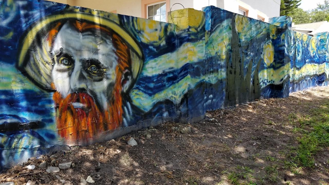 Mount dora mural mania art or graffiti for Dora wall mural