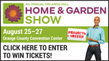 Orlando Fall Home & Garden Show Ticket Giveaway