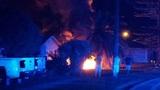 Car strikes power pole, bursts into flames on Merritt Island