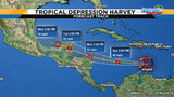 Tropical Depression Harvey heads toward Belize&#x3b; Central Fla. preps for eclipse