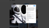 Elon Musk shares first photo of SpaceX's sleek new spacesuit