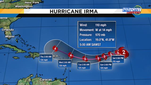 Hurricane Irma Cone 9-2-17_8AM