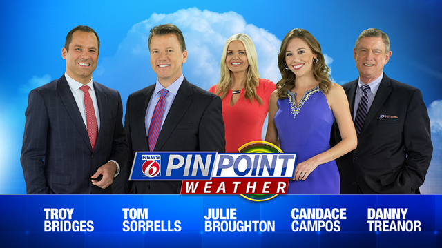 News 6 evening video forecast -- 6/5/19