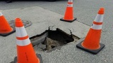 Possible sinkhole reported near downtown Titusville