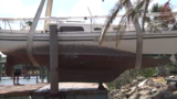 Sex offender's derelict boat damages docks during Hurricane Irma