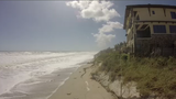 Beach erosion in Brevard County after hurricanes