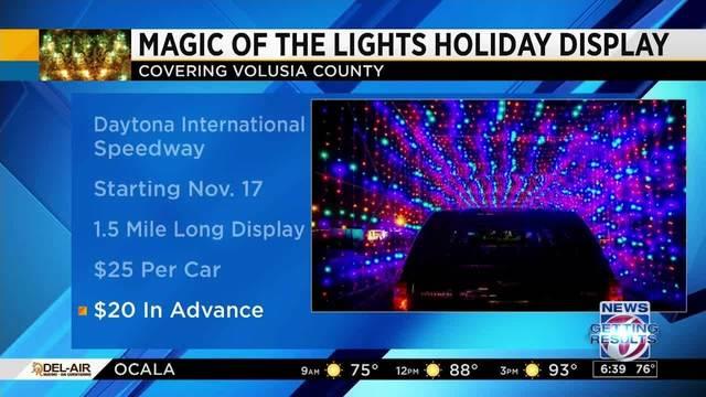 daytona international speedway to host holiday light display