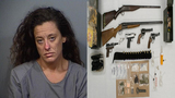 Police: Woman arrested after multiple drugs, guns found in Melbourne home