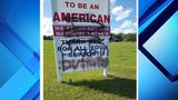 Lake County 'Toot for Trump' sign vandalized