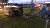 Generator catches fire in Mount Dora after power line falls near propane tank