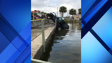 Officials investigate Lake County intersection after 2nd car plunges into lake