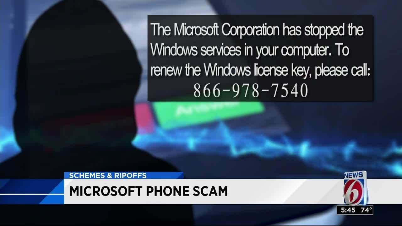 microsoft license key renewal phone call