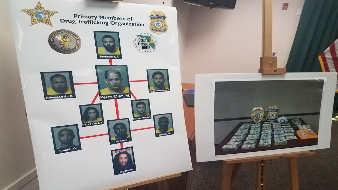 9 arrested in Seminole County drug trafficking ring