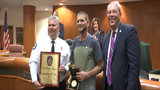 City honors man for saving life of driver who crashed in Apopka