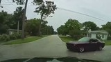 Dashcam shows near-collision on DeBary road