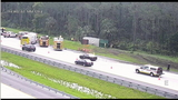 Big rig driver dies after hitting trees along I-4 in Volusia, FHP says