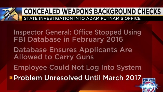 florida stopped doing gun permit checks for more than a year