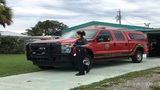 Thief peels away in Melbourne Fire Department pickup