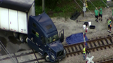 Semi truck stops on SunRail tracks, delays trains in Seminole County