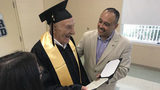 91-year-old WW II veteran receives high school diploma, seven decades later