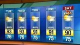 Muggy conditions blanket Central Florida