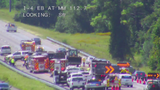 Fuel spill on I-4 West in Volusia County forces lane closures