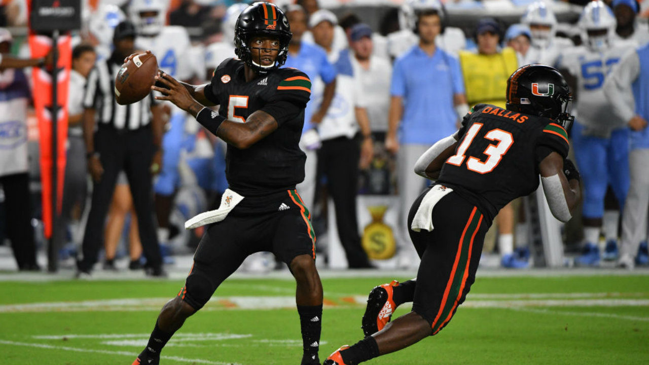 GettyImages-1042109716_1538103530339_12728912_ver1.0_1280_720 No. 16 Miami gets 3 defensive TDs, rolls by Tar Heels 47-10