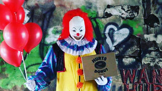 This doughnut shop delivers — by scary clown