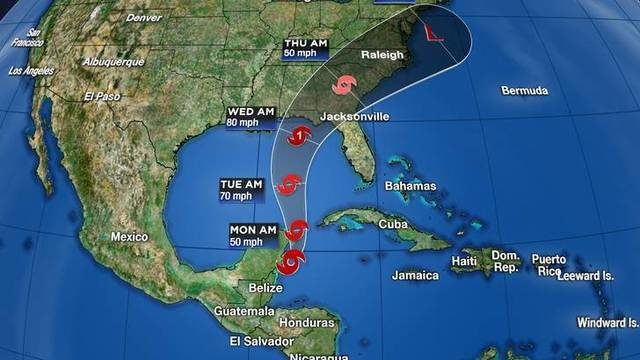 14 Day Weather Forecast New York >> Tropical Depression 14 strengthens into Tropical Storm Michael