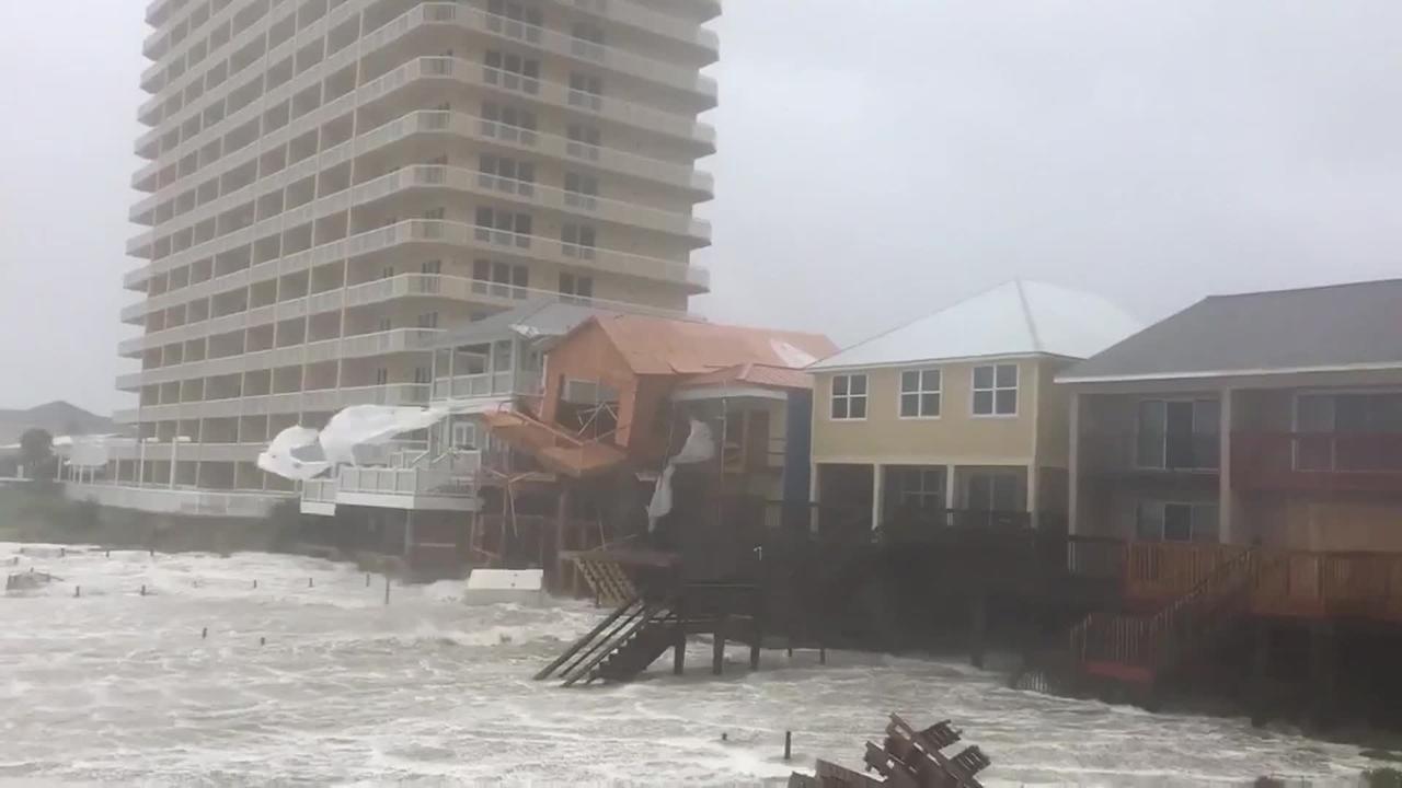 Videos show Hurricane Michael causing damage in Florida Panhandle
