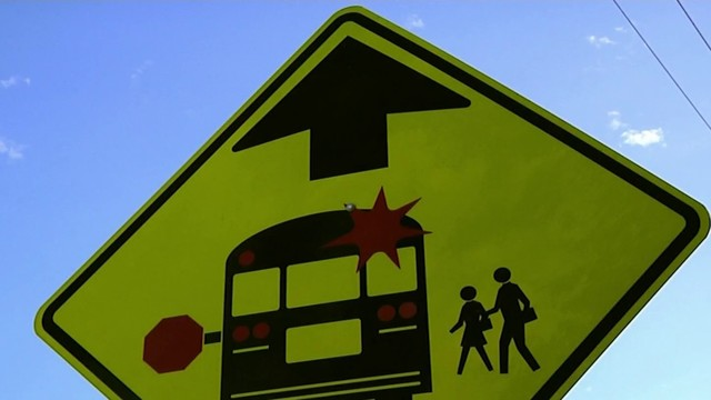 School bus crash causes traffic delay by Millinockett Lane